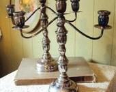 Vintage Silver Plate Candelabra Pair of Candlesticks