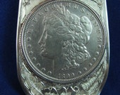 money clip sterling silver with silver dollar