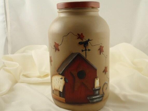 Primitive Painted Jar
