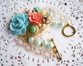 Summer Charm Bracelet (Blue Flora)