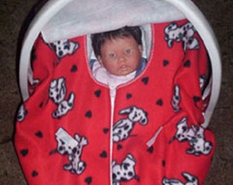 Dalmations Fleece Baby Car Seat Cover
