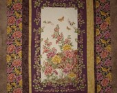 Asian Floral Garden Wallhanging top only - To quilt yourself
