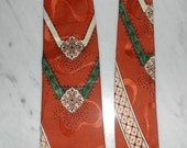 50s HOLLYVOGUE Tie Signed & Named after a Famous Painting