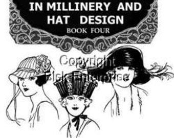 4 Wonderful PDF books on Hatmaking 20s Flapper  Downton Abbey, Gatsby,Miss Fisher