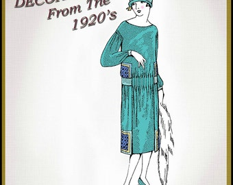 1920s Add Simile Embroidery Stitches to a Satin Frock