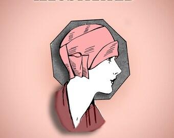 Downton Abbey, Gatsby 20s Easy to Make Felt Flapper Cloche Hat 20s Dress Pattern