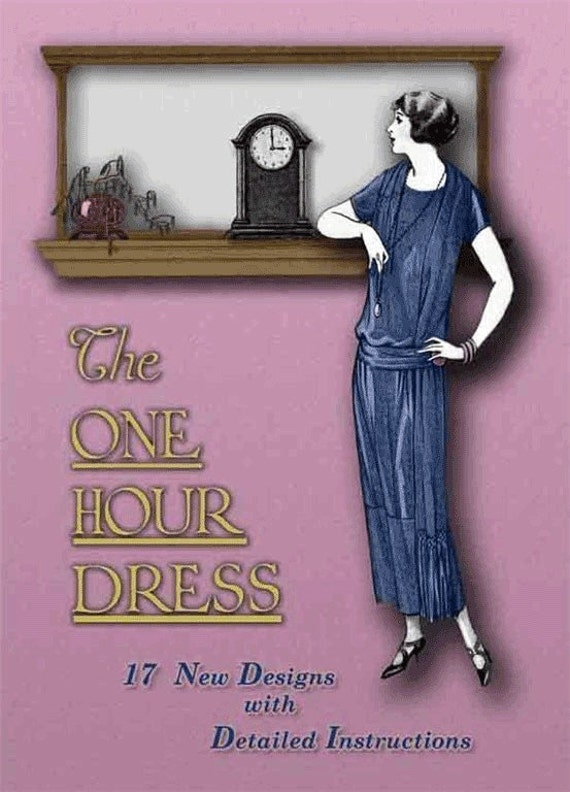 1920s Make a FLAPPER Dress in ONE HOUR Book Easy Fast Sewing