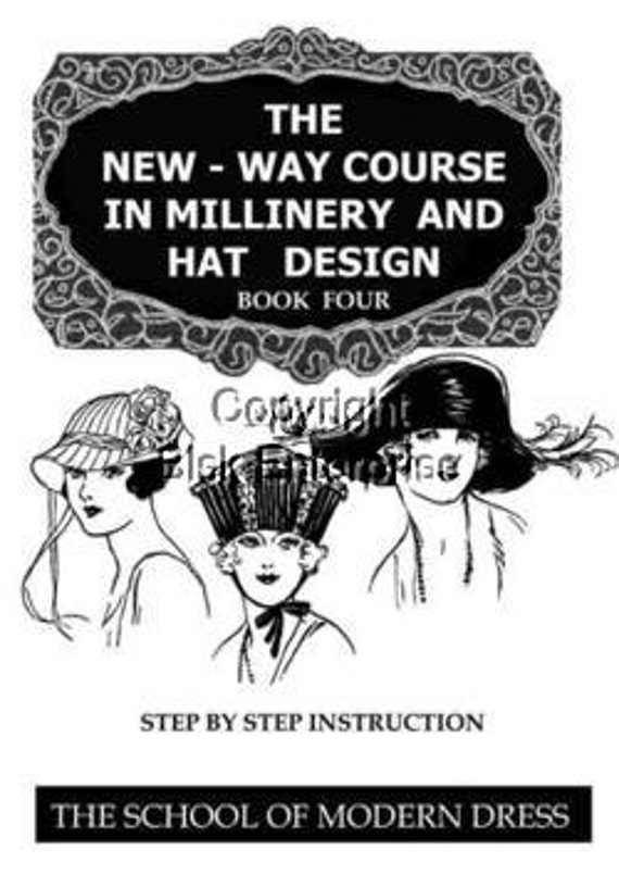 1920s Flapper HAT How to Make them PDF 4 Begninner Lessons