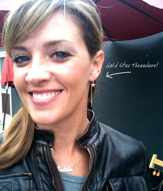 Lady Stardust Gold U-Threader Earrings