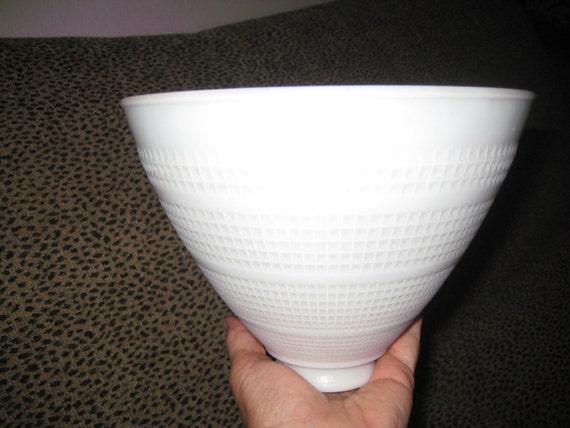 Antique Milk Glass Lamp Shade Waffle Pattern