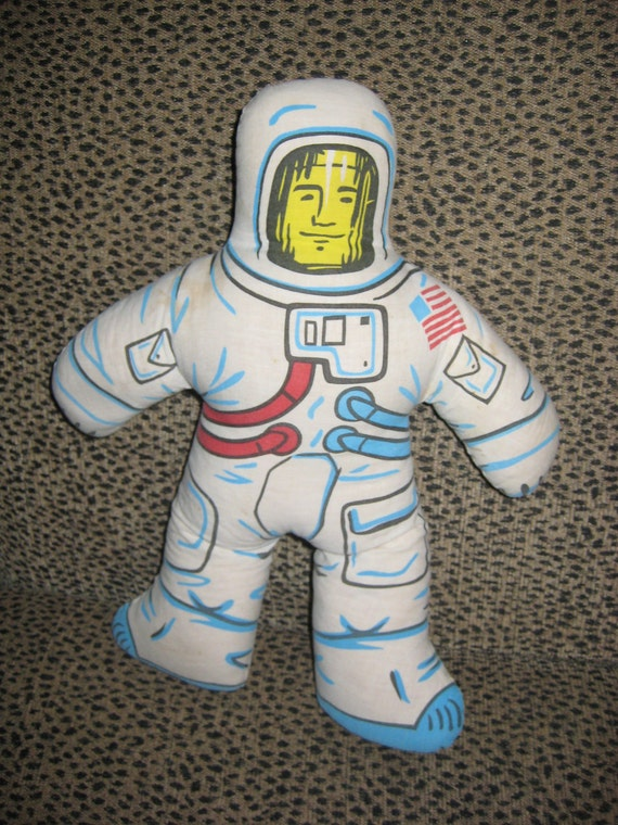 Rare Vintage Astronaut Stuffed Toy By Midcenturytreasures