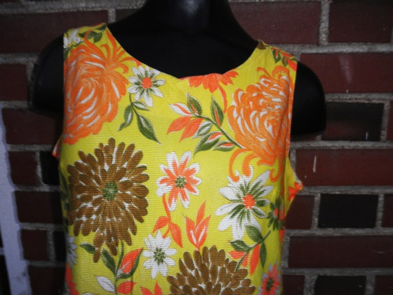 SALE Yellow Floral Romper Sassy Colorful Playsuit Summertime Fun DaydressS/M