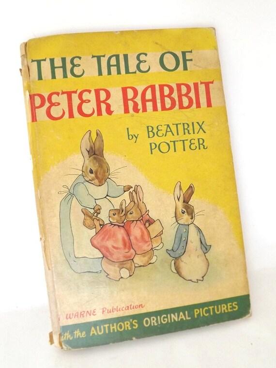 Vintage Antique Book Tales of Peter Rabbit 1920s Story Book Original Art Pictures Beatrix Potter Warne & Co.