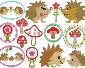 instant download Machine embroidery design HEDGEHOGS LIFE set 4x4 5x7 hoop