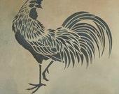 Rooster Stencil - Easy reusable stencils for DIY decor