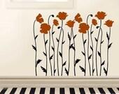 Wall Stencil Poppy Field - Reusable Stencils  better than decals