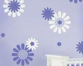 Nursery Stencils Daisy Crazy Kit 1 - Easy Nursery Decor with Stencils - DIY decor