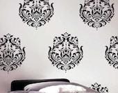 Wall Stencil Brocade No.1 MED - Reusable Wall Stencil Better than wall decals