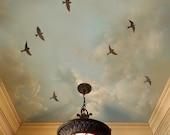 Stencils Flying Birds 3 pc kit - Reusable Bird stencils for walls - DIY decor