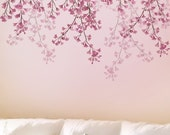 Stencil for walls Weeping Cherry - Reusable stencils better than Wall Decals