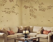 Wall Stencils Sycamore Branches 3 pc - Reusable stencils better than decals