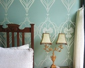Rachel's Garden Allover Wall Stencil - Reusable stencils for DIY Home Decor. Better than wallpaper!