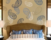 Wall Stencil Vintage Paisley MED - Reusable paisley stencils for walls - DIY home decor - Indian paisley designs - Better than vinyl decals!