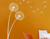 Dandelion Stencil size MED - Reusable wall stencils  better than decals - Flower stencils for DIY decor
