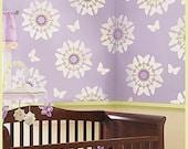 Stencil Butterfly Bloom No1 size SM - Reusable stencils for easy nursery DIY decor