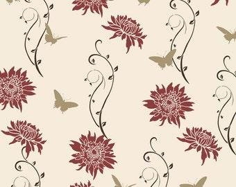 Wall Pattern Stencil Kit Geishas Garden - Reusable stencils for easy wall decor