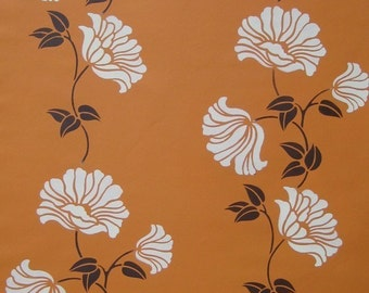 Wall stencil Poppy Stripe - Reusable stencil for easy wall and fabric decor