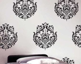 Wall Stencil Brocade No.1 MED - Reusable Wall Stencil Better than wall decals