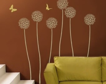 Allium Gladiator Flower Stencil - Wall Art Stencil - DIY Home Décor - Reusable Stencils for Walls - Better than Wallpaper!