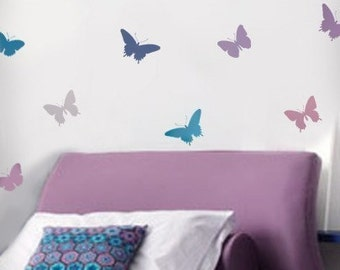 Butterfly Stencils 4pc kit - Easy decor, Nursery, Kids Room, Crafts, Fabrics, Furniture stencils