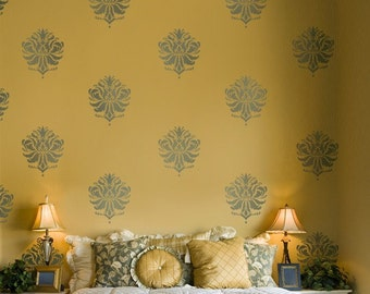 Damask Stencil Gabi's Brocade SM - Reusable stencils for walls, fabrics and furniture