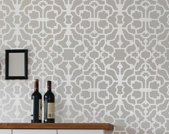 Wall Stencil Vision - Reusable wallpaper stencils - money saving DIY decor