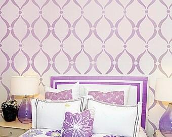 Stencil Sweet Dreams LG - Stencils instead of wallpaper - Nursery decor