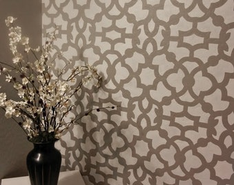 Moroccan Stencil Zamira - Large - Reusable Wall stencil patterns instead of wallpaper - Quality stencils for DIY decor