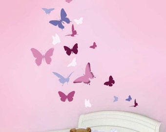 Butterfly Dance Wall Stencil - Easy Wall  Stencil for Nursery Decor - Better than Decals!