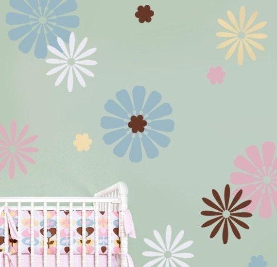 Nursery Stencils Daisy Crazy Kit 3 - Easy Nursery Decor with Reusable Stencils
