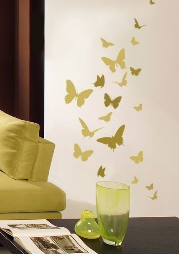 Butterfly Dance Wall Stencil   Easy Wall Stencil For Nursery Decor   Better  Than Decals! Part 87