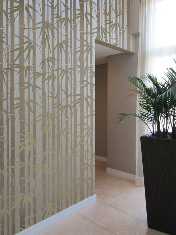 Bamboo Wall Decor bamboo allover stencil diy home décor wall stencils for