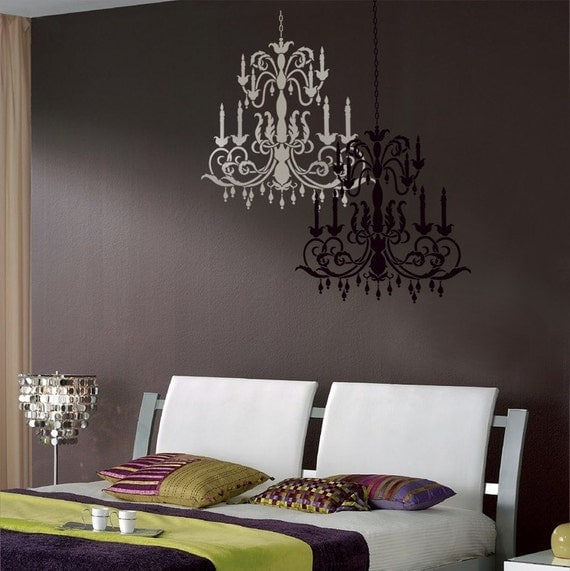 Reusable stencil chandelier size med wall stencils better for Stencil da muro cucina
