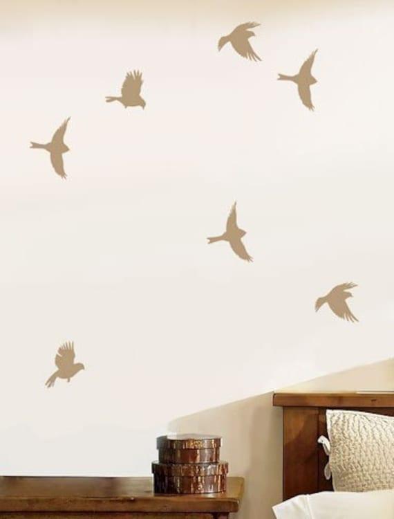 Garden Birds Wall Stencil - Reusable Bird Stencil for Walls, Crafts, Kids Rooms - DIY decor