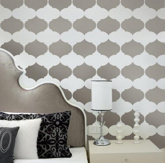 Aladdin Allover Stencil - Reusable stencils for walls - Stencils for DIY wall décor- Better then wallpaper! - DIY wall design