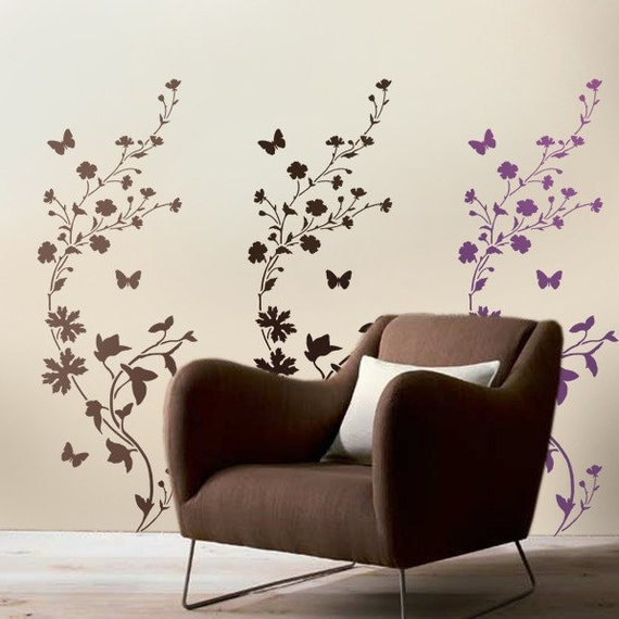 Stencil wildflower confine/striscia lg di cuttingedgestencils