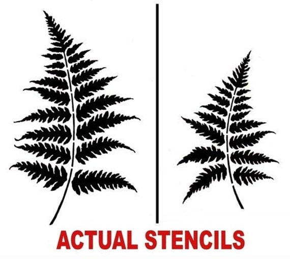 Wall stencils Fern Leaves 2pc SM Reusable stencils for