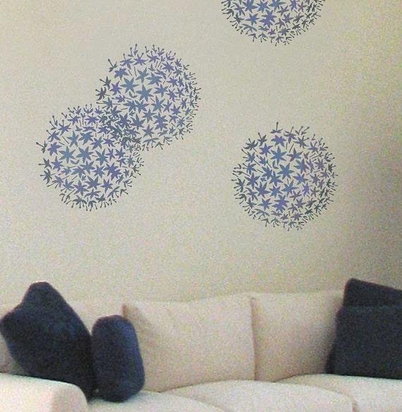 Allium Grande Flower Stencil - MEDIUM SIZE - Reusable Stencils for Walls - Trendy Wall Stencils for Wall Décor