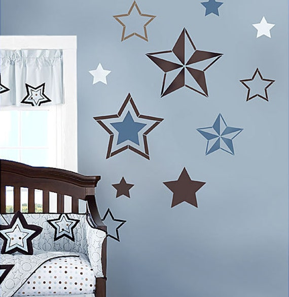7 Stars Stencil Kit Wall Art Nursery Stencil Kids Room