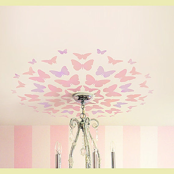 Stencil Butterfly Medallion, Great for Nursery ceiling, Reusable stencils for easy DIY decor